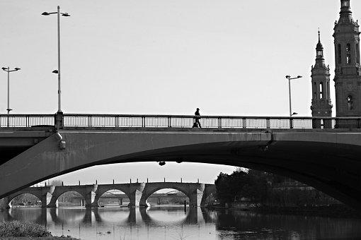Bridge, City, Torres, River, Europe, Architecture