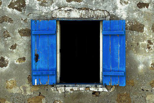 Window, Wooden, Blue, Wall, Architecture, Traditional