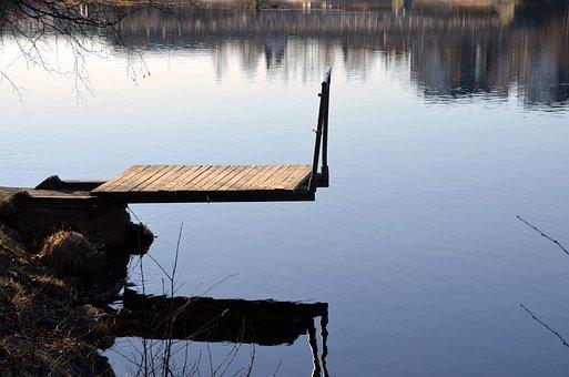 Skellefteå, Bridge, River, Sweden, Water, Blue