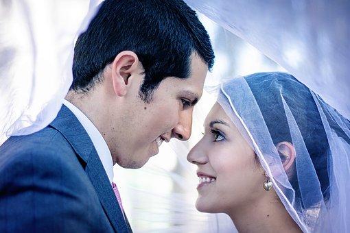 Couple, Wedding, Wedding Couple, Groom, Young, Woman
