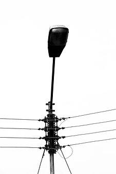 Post, Electricity, Lamp, Lighting, Focus, Wire Light