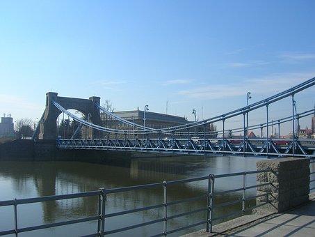 Bridge, Grunwaldzki Bridge, Wrocław