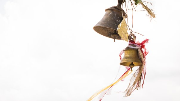 Bell, Temple, Hanging Bells, Faith, Religion, Old