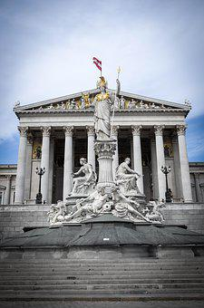 Vienna, Parliament, Austria, Architecture, Building