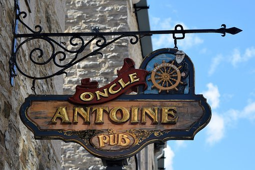 Sign, Pub, Old, Hanging, Public House, Bar, Blue Sky