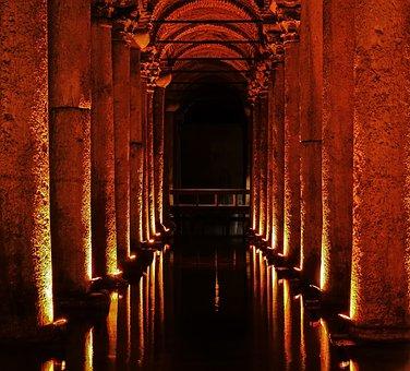 Travel, Turkey, Istanbul, Tourism, Yerebatan Cistern