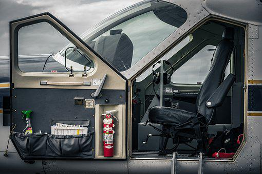 Cockpit, Aircraft, Fire Extinguisher, Fly, Aviation