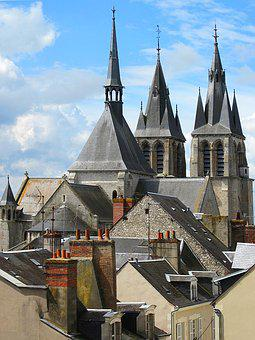 Spires, Chimneys, Church, Architecture, Gothic