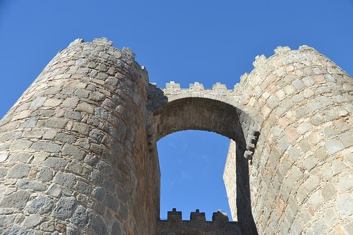 Spain, Avila, Wall, Tourism, Stone, Old Building