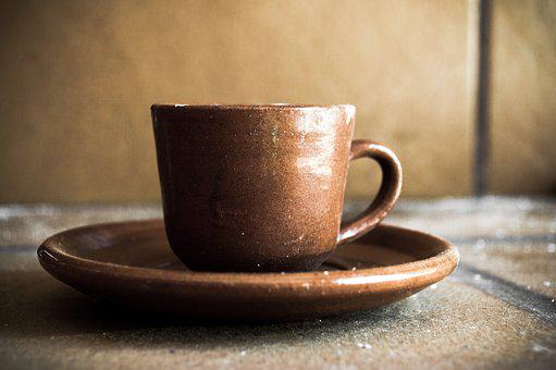 Cup, Mud, Pottery, Dish, Glass, Banquet, Coffee, Brown