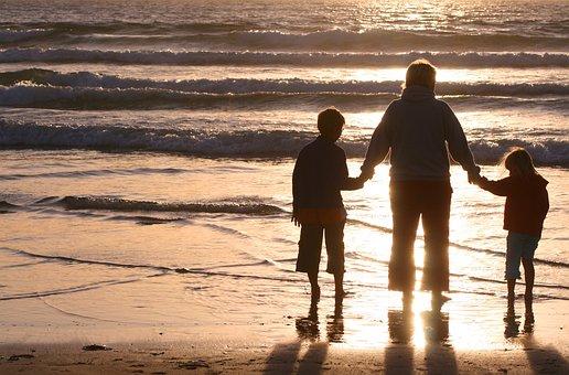 Family, Sunset, Leisure, People, Child, Summer