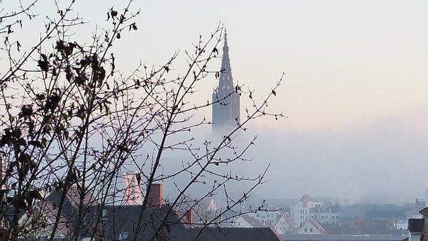 Ulm Cathedral, Fog, Cold