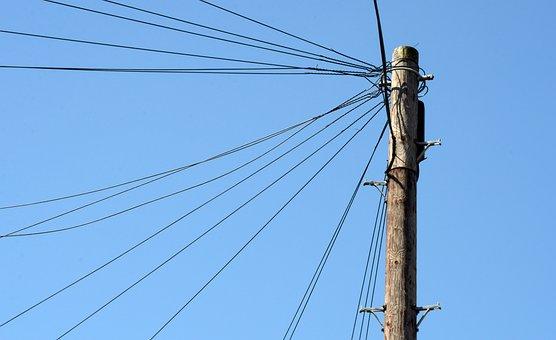 Pole, Mast, Electricity, Elektriciteitsmast