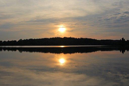Evening Calm, Evening Sun, Stillersee