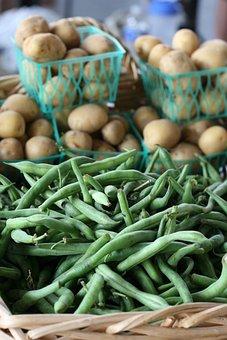 Green Beans, Potatoes, Food, Vegetable, Healthy, Potato