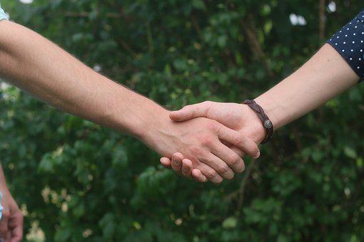 Hands, Handshake, Person, Male, Confident, White, Young