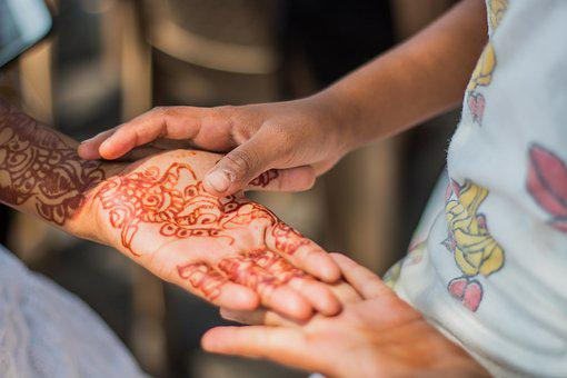 Hands, Henna, Tattoo, India, Tradition, Decoration