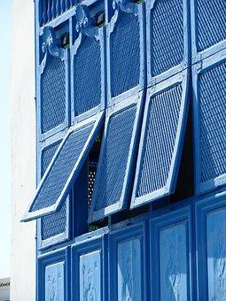 Blue, Windows, Blinds, House, Shutter, Decoration