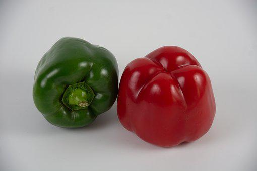 Red Peppers, Green Peppers, Market, Kitchen, Food