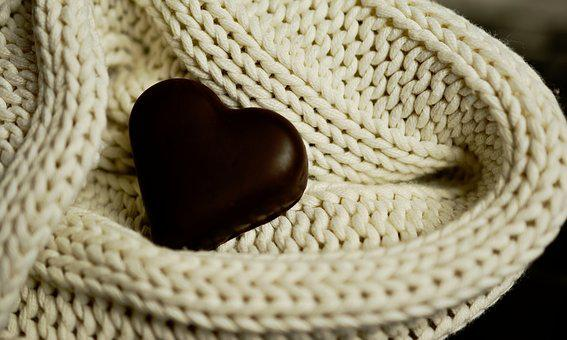 Heart, Chocolate Heart, Wool, Mesh, Love, Mother's Day