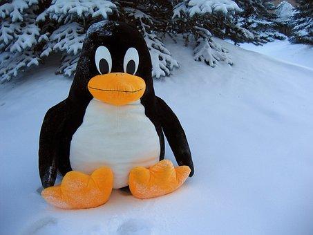Linux, Penguin, Funny, Snow, Toy, Bird, Fantasy, Fat