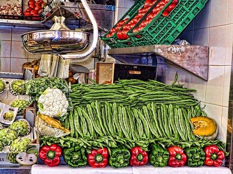 Vegetables, Peppers, Red Pepper, Green Pepper