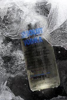 Product, Ice, Fiction, Frozen, Cold, Wet, Bottle, Vodka