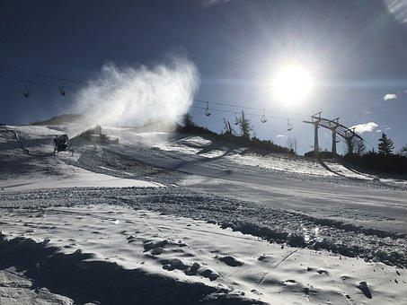 Snow, Slope, Alpine, Mountain, Winter, Cold, White, Sky