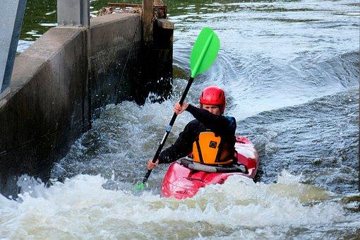 Paddler, Paddle, Canoeist, Sport, Canoeing, Water