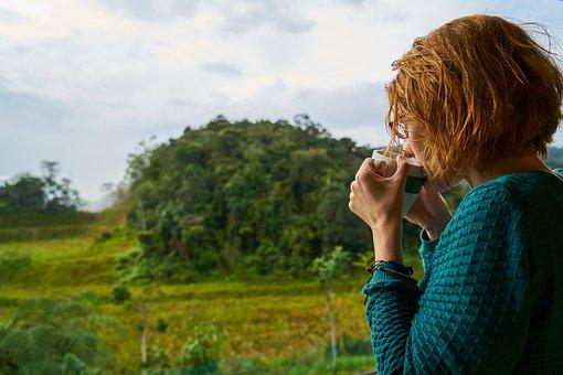 Coffee, Women's, Drink, Tree, Nature, Espresso