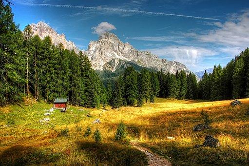 Dolomites, Mountains, Italy, Alpine, View, Trentino