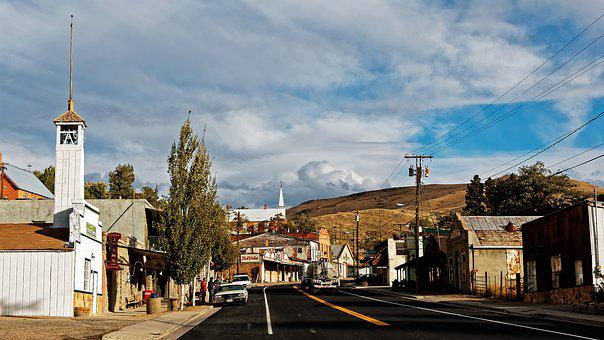 Nevada, Austin, West, America, Road