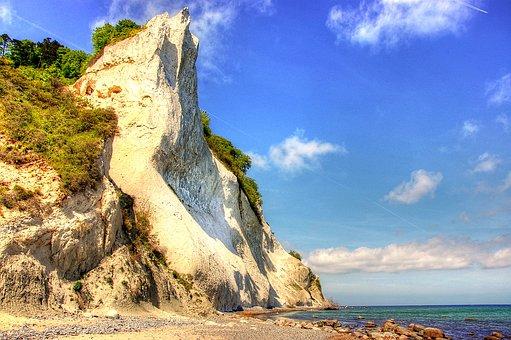 Món, Island, Denmark, Island Mön, White Cliffs, Cliff