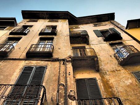 Como, Italy, Balcony, Facade