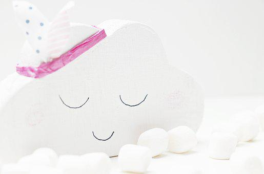 Cloud, Marshmallows, White, Cloud 7, Wood Cloud, Deco