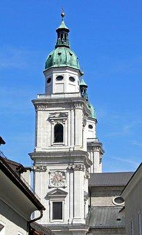 Salzburg, Dom, Dom' Church Tower, Church