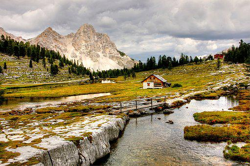 Dolomites, Mountains, Fanes, Italy, South Tyrol, View