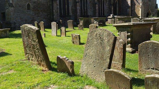 Cemetery, England, Grave Stones