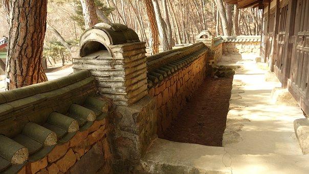 Stone Wall, Hanok, Roof Tile