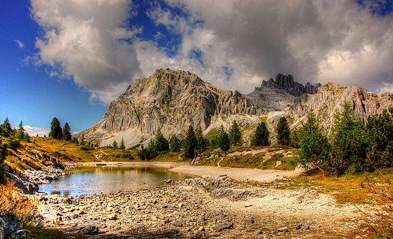 Dolomites, Mountains, Italy, Alpine, View, Hiking