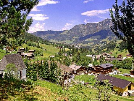 Tyrol, Alpbach Valley, Inneralpbach, Panorama, View