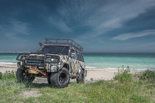 Car, Offroad, Jeep, Pajero, Vehicle, Transportation