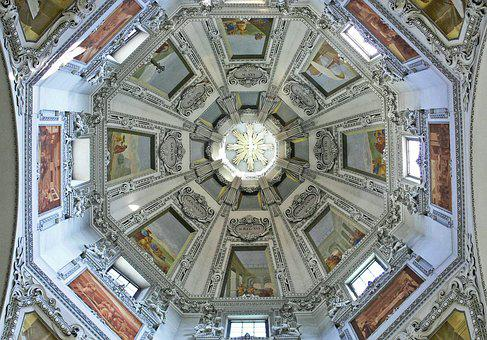 Salzburg, Dom, Dome, Sanctuary, Jewelry Vault, Stucco