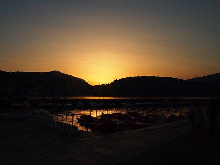 Como, Italy, Sunset, Lake