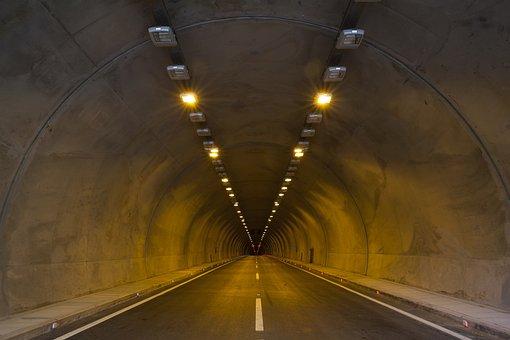 Tunnel, Asphalt, Light, Ribbon, Concrete