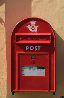 Postbox, Red, Mail, Mailbox, Post, Box, Letter