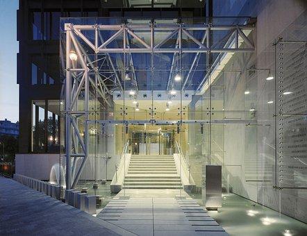 Glass, Entrance, Modern, Design, Building, Exterior