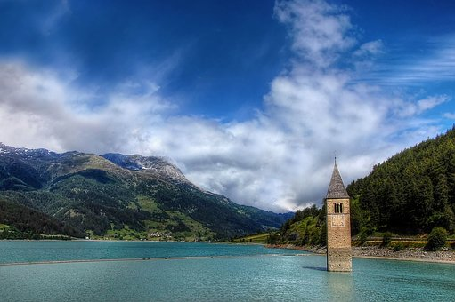 Graun, South Tyrol, Mountains, Alm, Clouds, Alpine