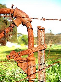 Farm, Country, Gate, Old Gate, Farm Gate, Rusty Iron