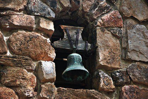Bell, Percussion, Sound, Metal, Vibration, Stone Wall